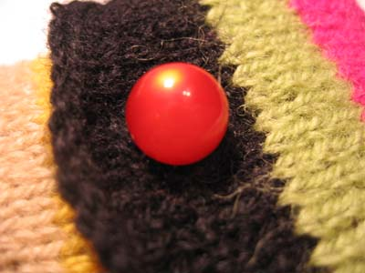 Closeup of the button