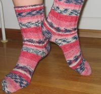 Rasberry sock - striped