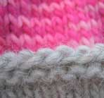 Hannas Candy floss Mittens - detail