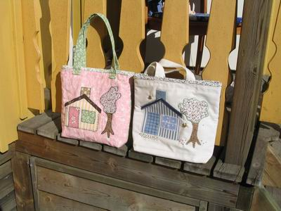 Our bags in the sun