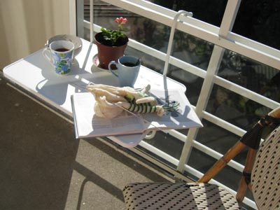 My balcony table