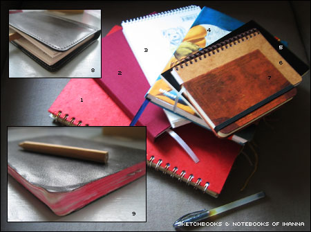 iHannas sketchbooks and notebooks in august 2005