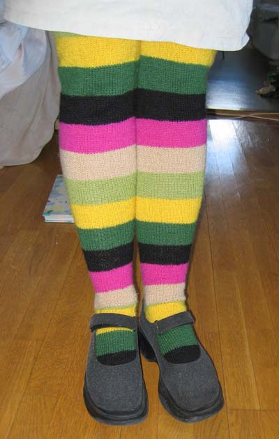 My very long socks are finished