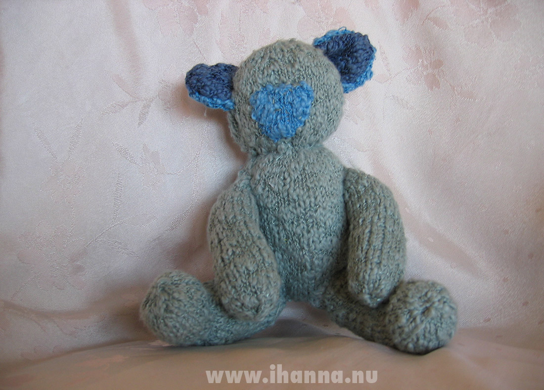 Knitted teddy bear without eyes almost finished - by iHanna Photo copyright Hanna Andersson