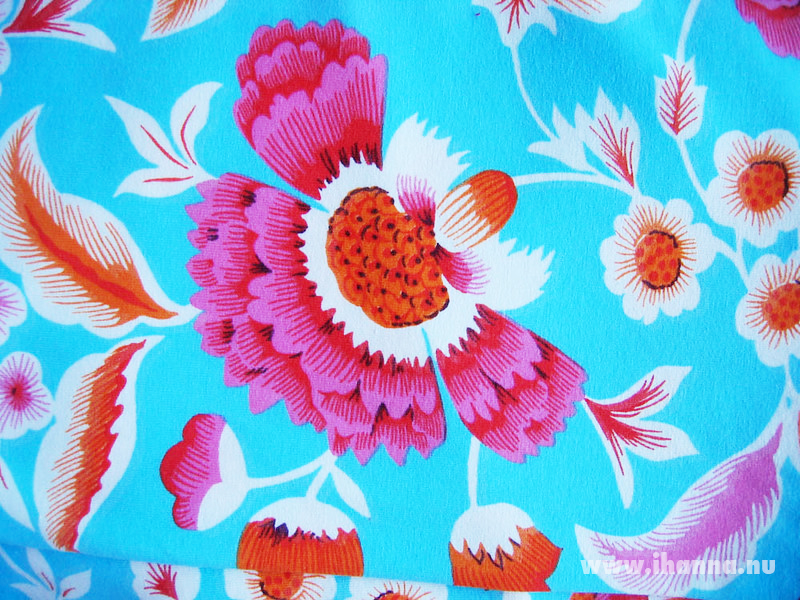 Turquoise tricot fabric