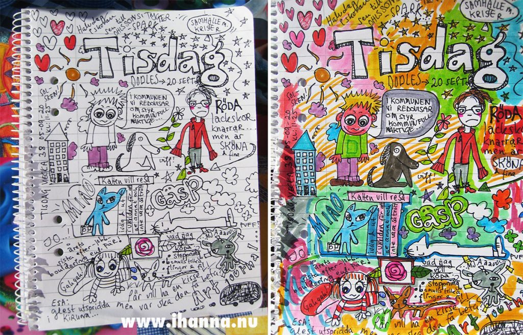 iHanna's Tom Judd inspired doodle - copyright Hanna Andersson (school notes, 2005)