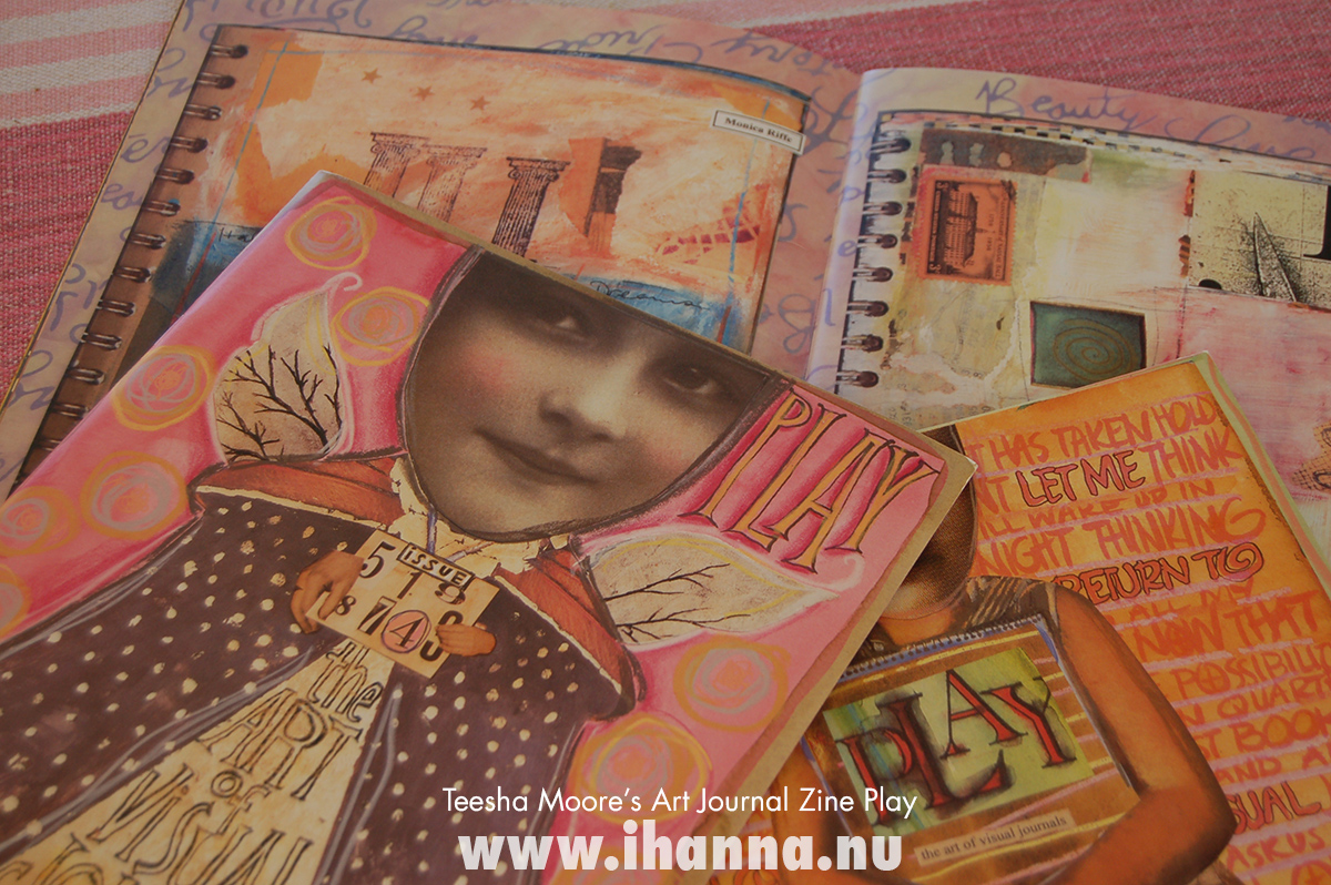 Yummy pile of Teesha More's fantastic art journal zine play - photo copyright Hanna Andersson