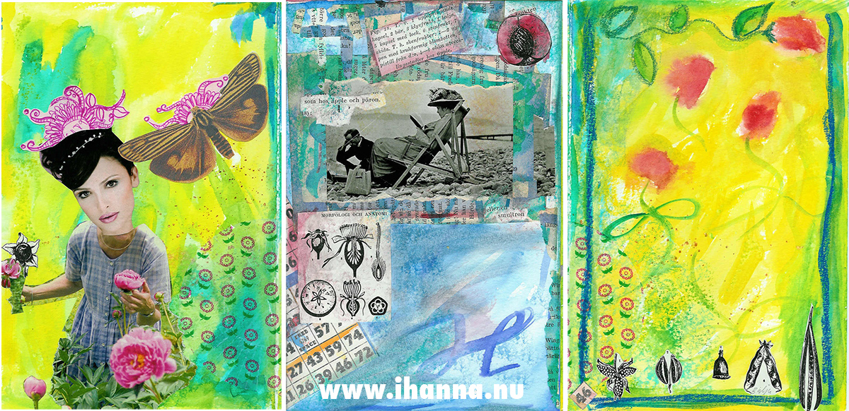 Art Journal Pages by iHanna (loose paper and washes of color) #artjournal