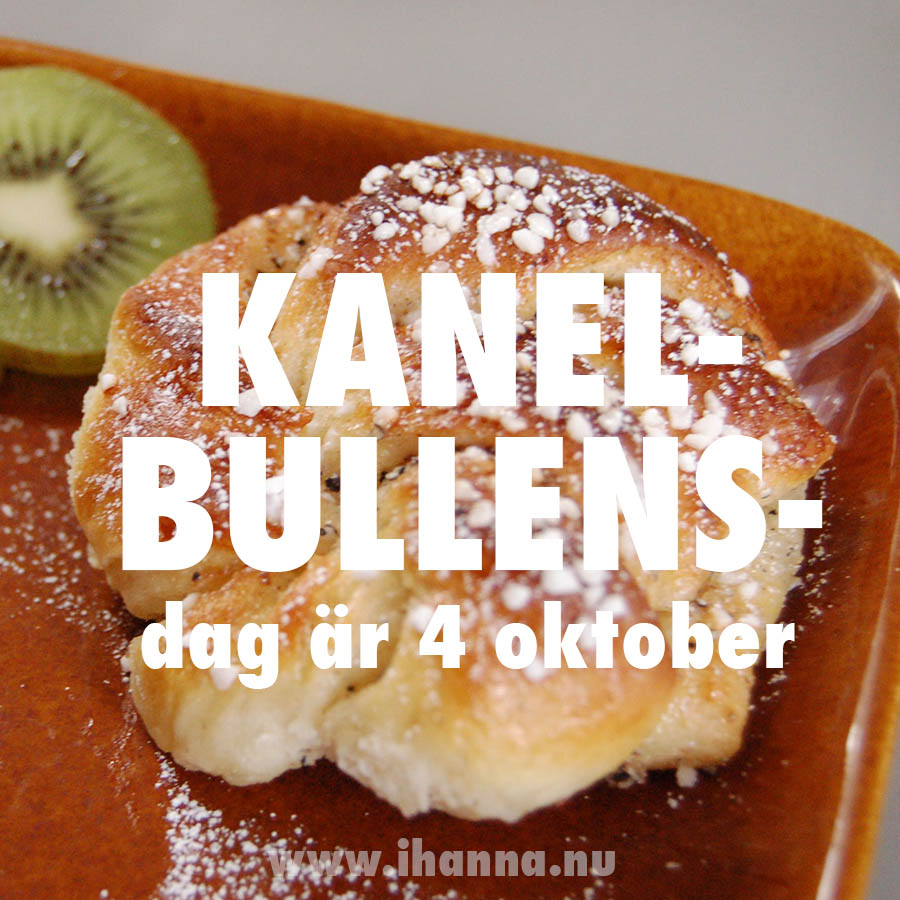 Kanelbullens dag is 4th of October every year - Cinnamon Roll Day!