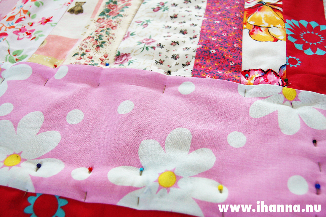 Pink quilt top sewn by iHanna