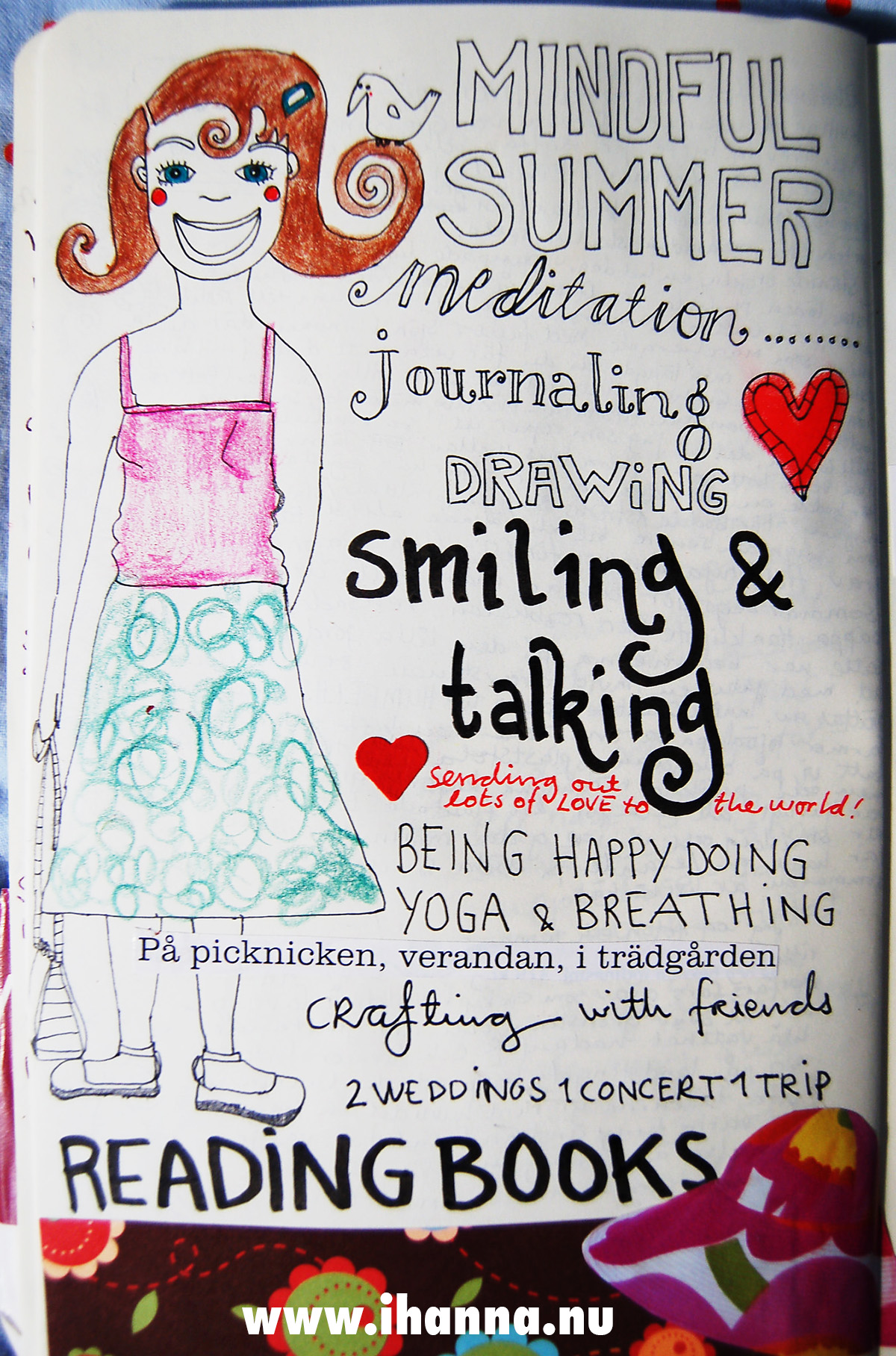 Moleskine diary page by iHanna - Summer Meditation on a page 2008