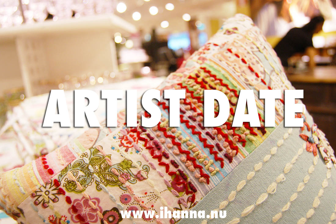 Let's go on an Artist Date - no shopping, just looking in shops in our town /iHanna