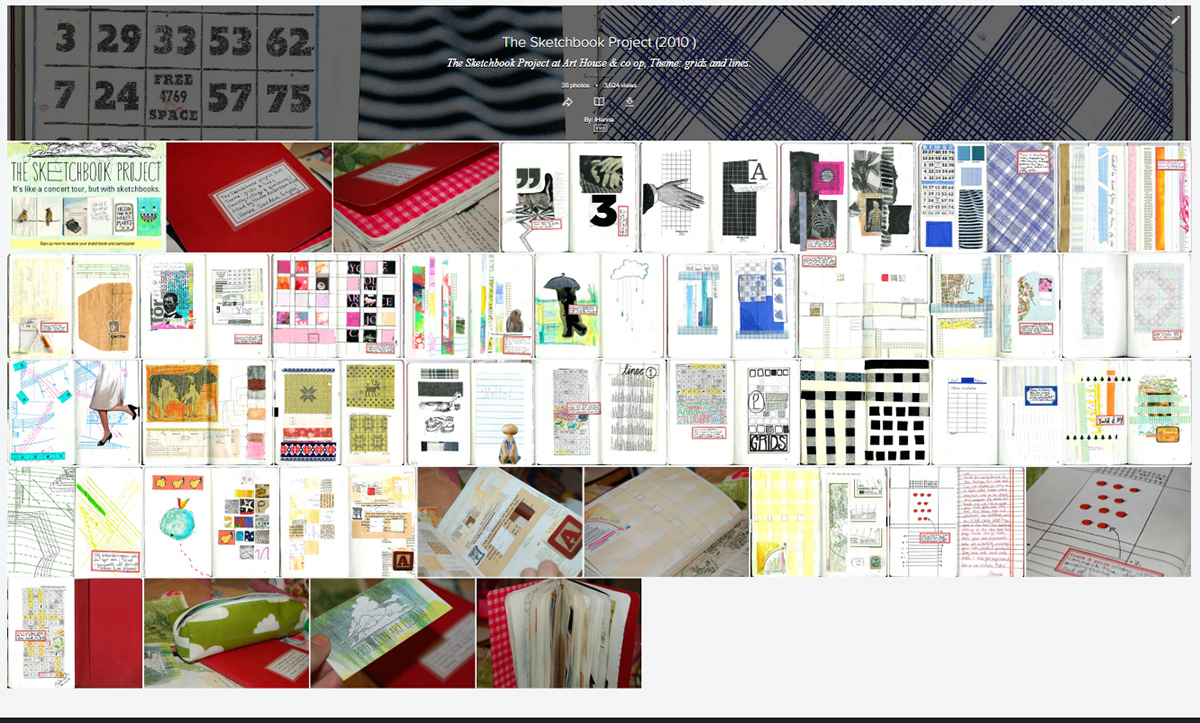 Visit all the pages of the Sketchbook Project by iHanna Flickr set