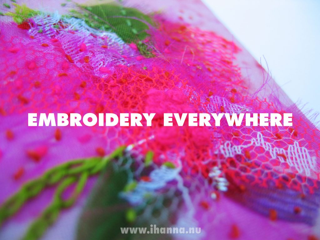 Seeing Embroidery Everywhere
