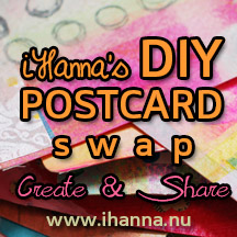 Join the DIY postcard swap at www.ihanna.nu/postcard-swap