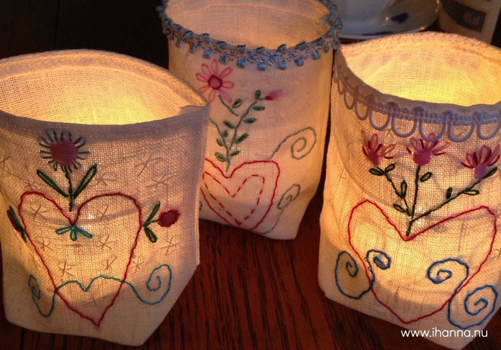 Embroidered Luminaries by iHanna's mom