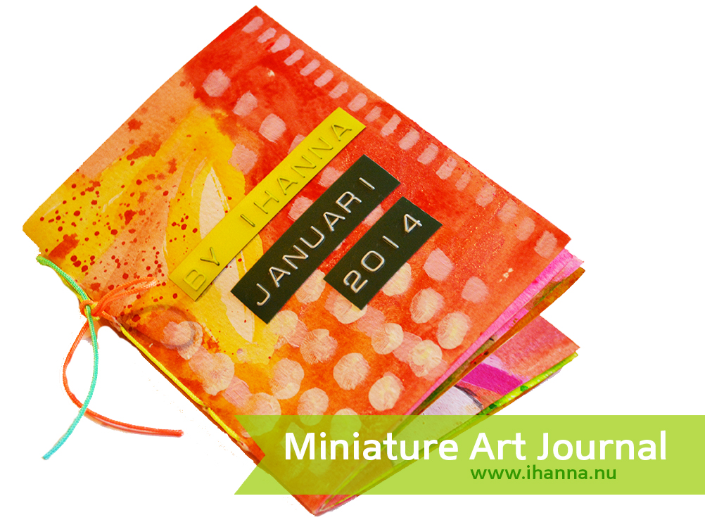 iHanna's Miniature Art Journal filled with illustrations, more on the blog www.ihanna.nu