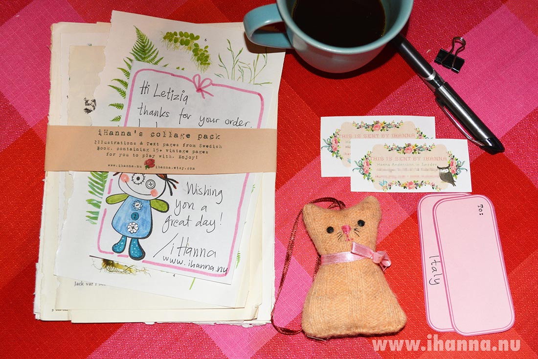 Outgoing from iHannas Etsy Shop