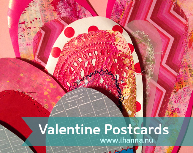Mixed Media Valentine Cards by iHanna of www.ihanna.nu/tag/valentine