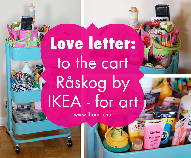 Love Letter to Råskog – the turquoise Kitchen Cart for all Artists