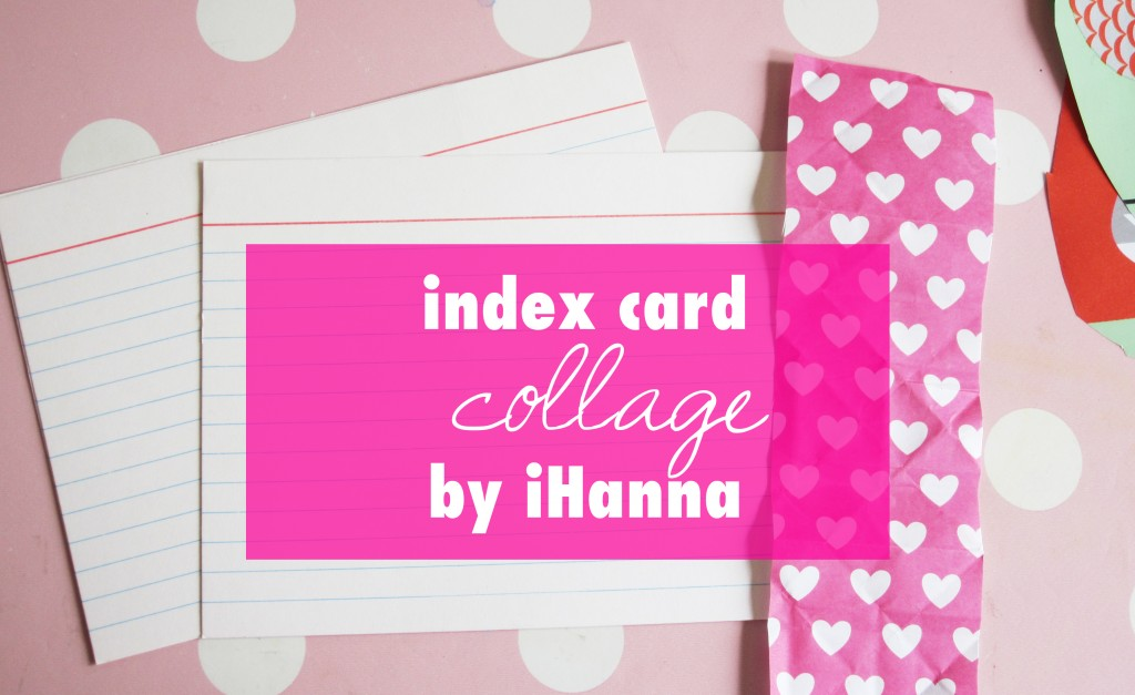 Index Card Creativity - a collage video by iHanna at www.ihanna.nu