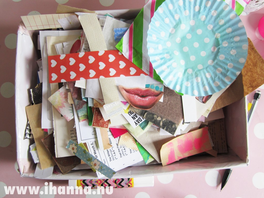 Creating a collage from my scrap inbox for ICAD 2014, see video on www.ihanna.nu