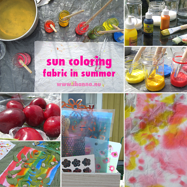 Sun Coloring fabric in Summer with iHanna at www.ihanna.nu #diy