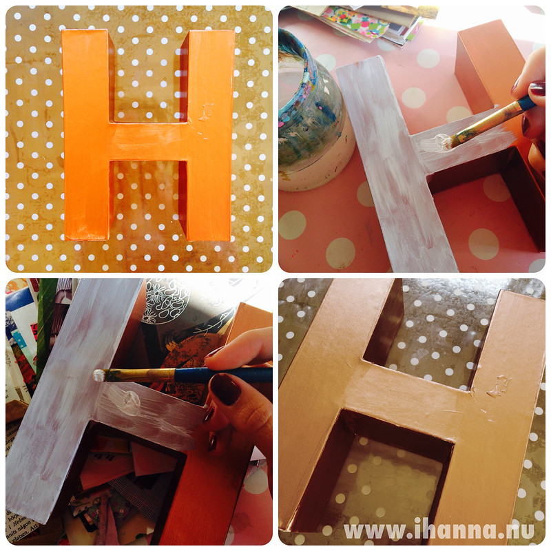 Craft project to cover this ugly H with something prettier