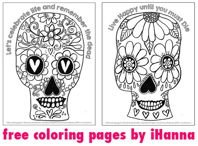 Sugar skulls doodled by iHanna