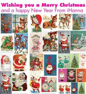 Merry Christmas Vintage Printable Images PDF 2017
