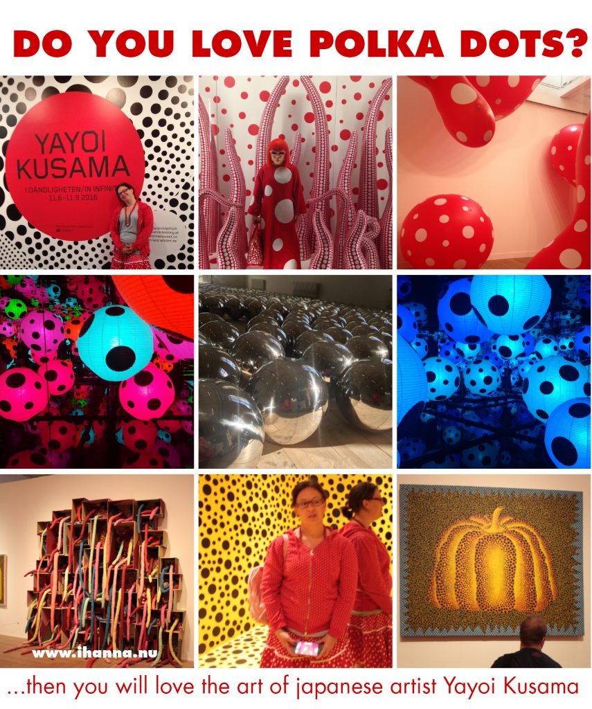 Do you love polka dots, then visit this blog post and vlog to see more of Yayoi Kusama's art at the exhibtion in Stockholm #polkadots