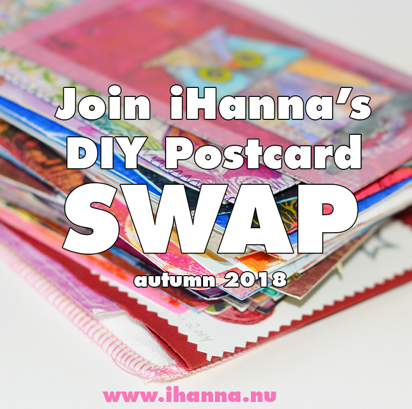 iHanna's DIY Postcard Swap autumn 2018 - join right now!