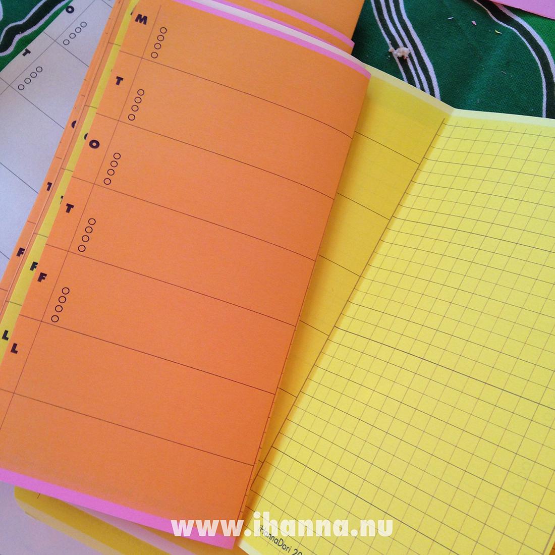 Traveler's Notebook Randomosity vol 2 blank yellow pages