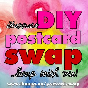 Swap mail art with me in iHannas lovely and fun DIY Postcard Swap