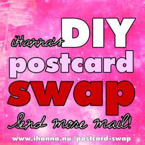Send more mail art in iHannas wonderful DIY Postcard Swap