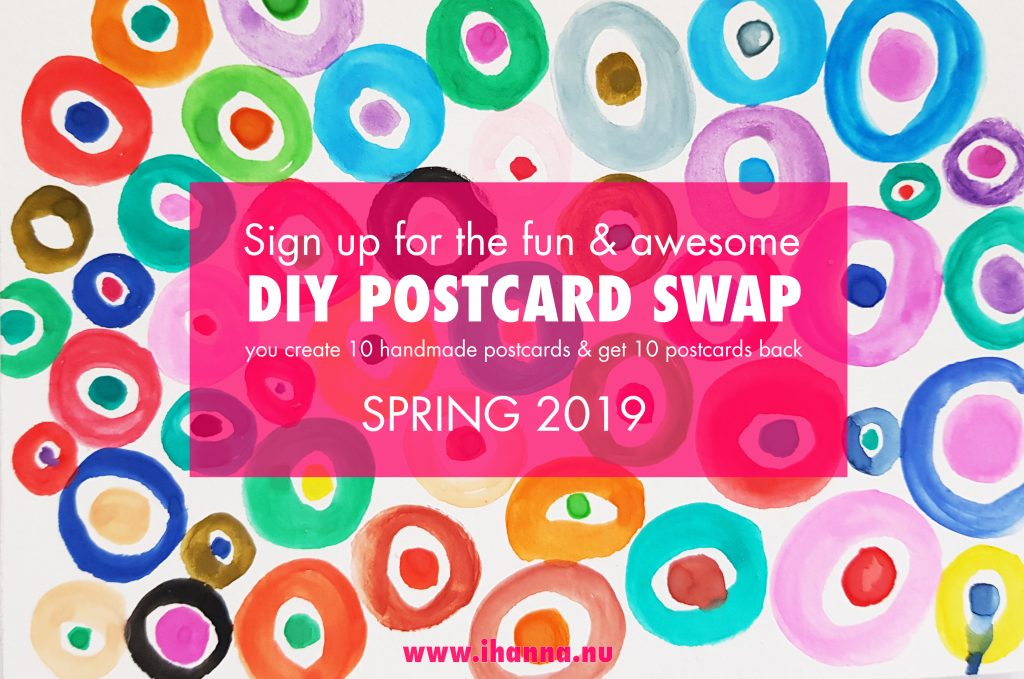 Sign up for iHanna:s DIY Postcard Swap Spring 2019
