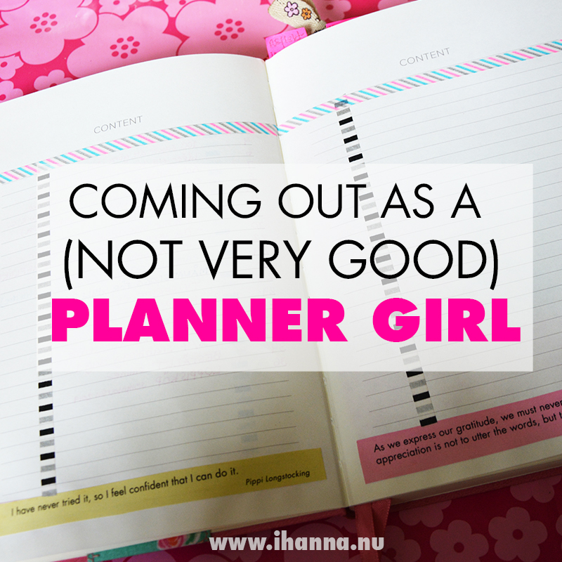 Coming out as a (not very good) planner girl for #onebookJuly2019 video with iHanna