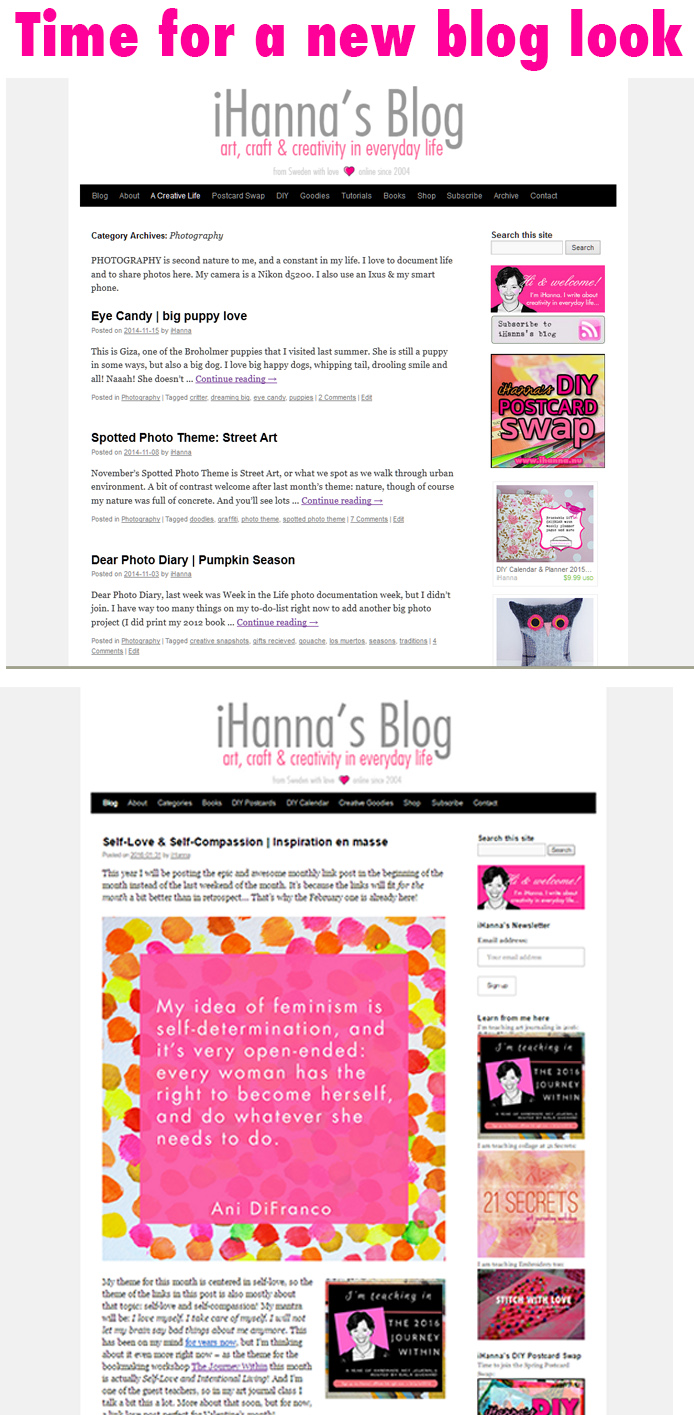 Time to Evolve: Updating iHannas blog from this old theme to a new one