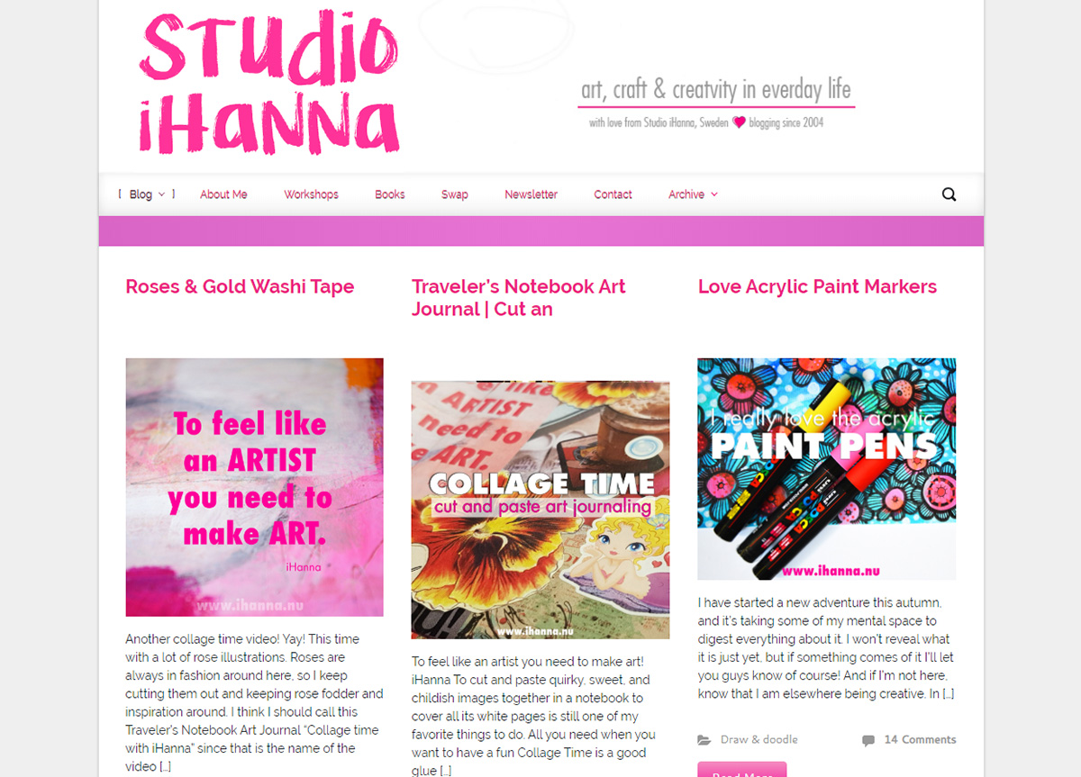 Studio iHannas Blog with Evolve WordPress Theme 2019