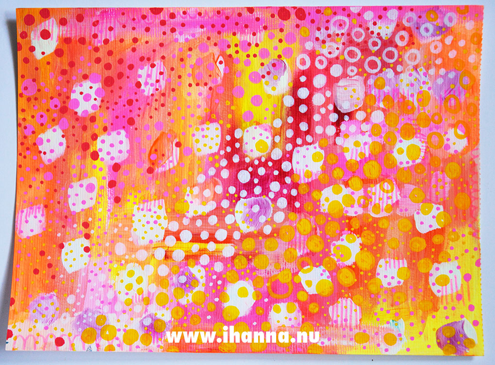 Polka dot doodles by iHanna #paintedpaper