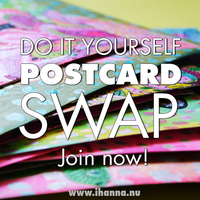 Join iHanna's DIY Postcard Swap 2019