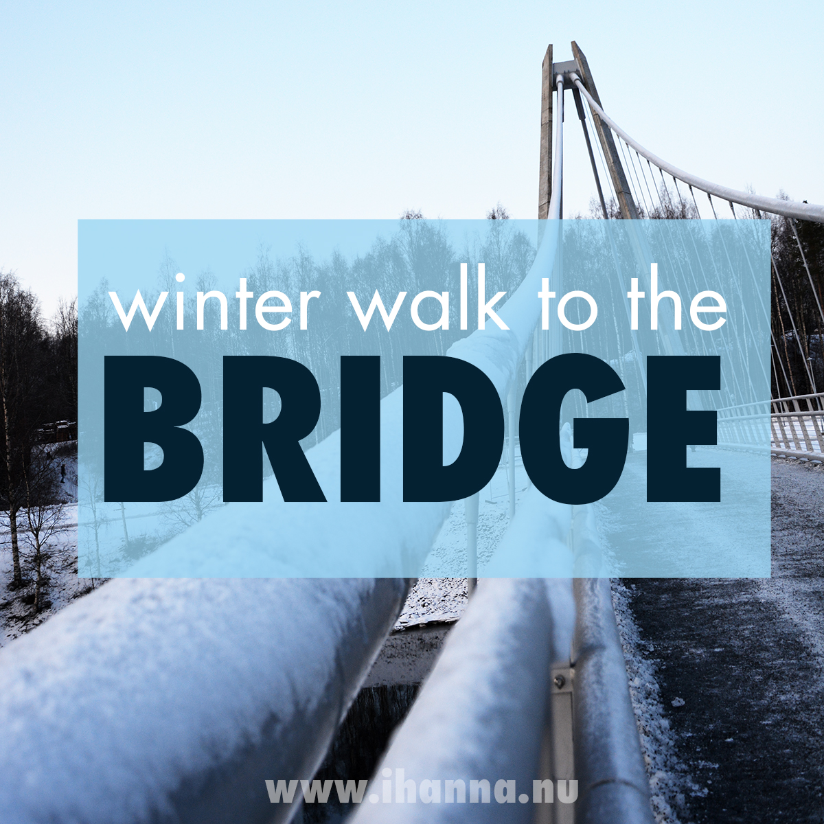 A winter walk over the new Ume bridge 2019 Photo Copyright Hanna Andersson