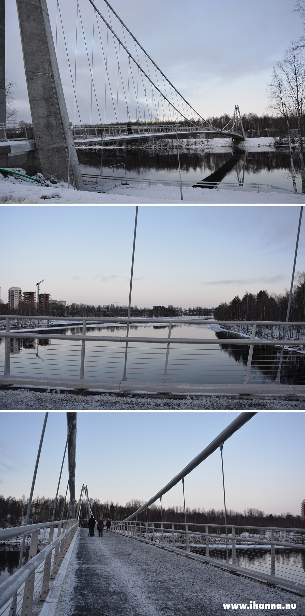 New bridge in Umeå, Sweden over the umeälv - December 2019 - Photo copyright Hanna Andersson