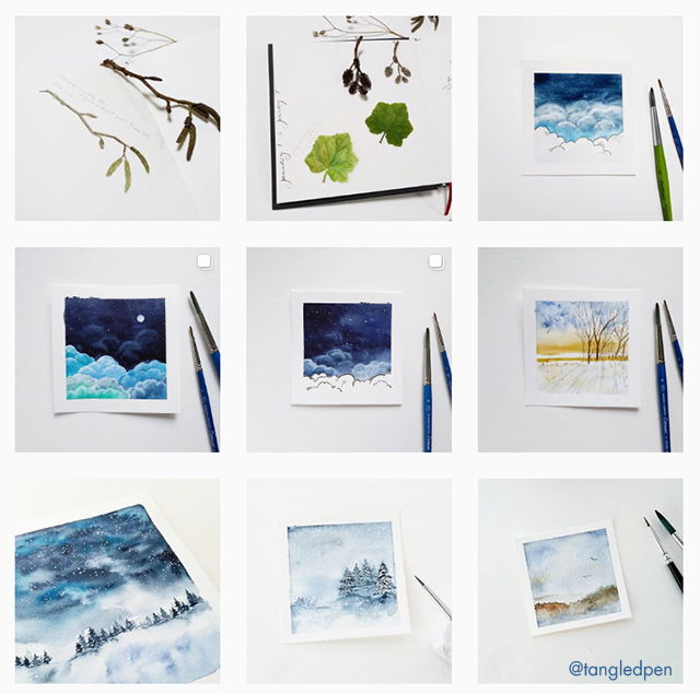 Follow Jana Bodin Tangled Pen on Instagram for some beautiful watercolor paintings #watercolors
