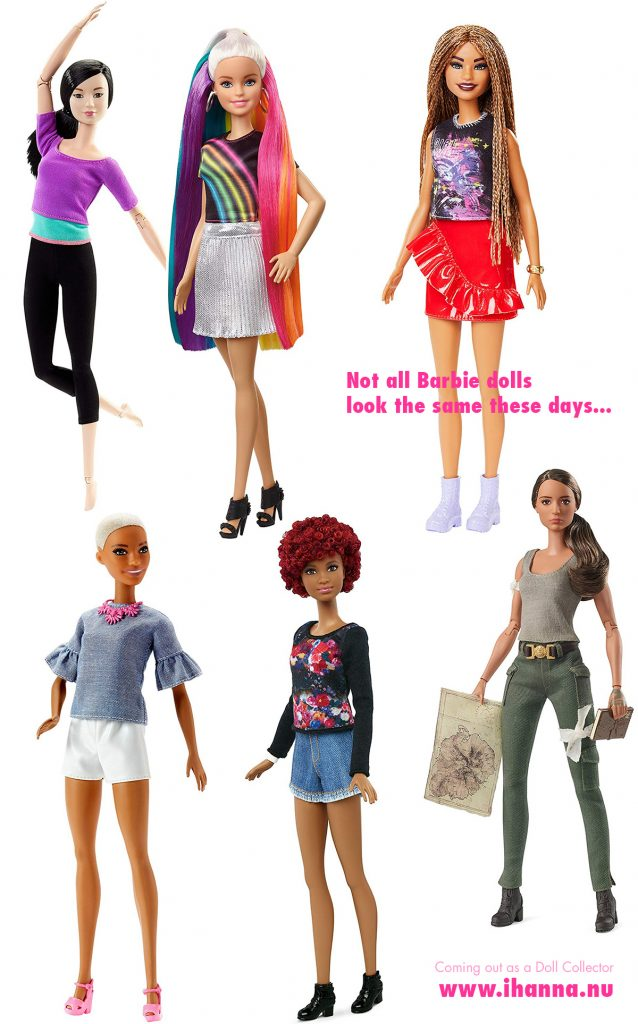 Diversity among Barbie dolls is a fun fact these days