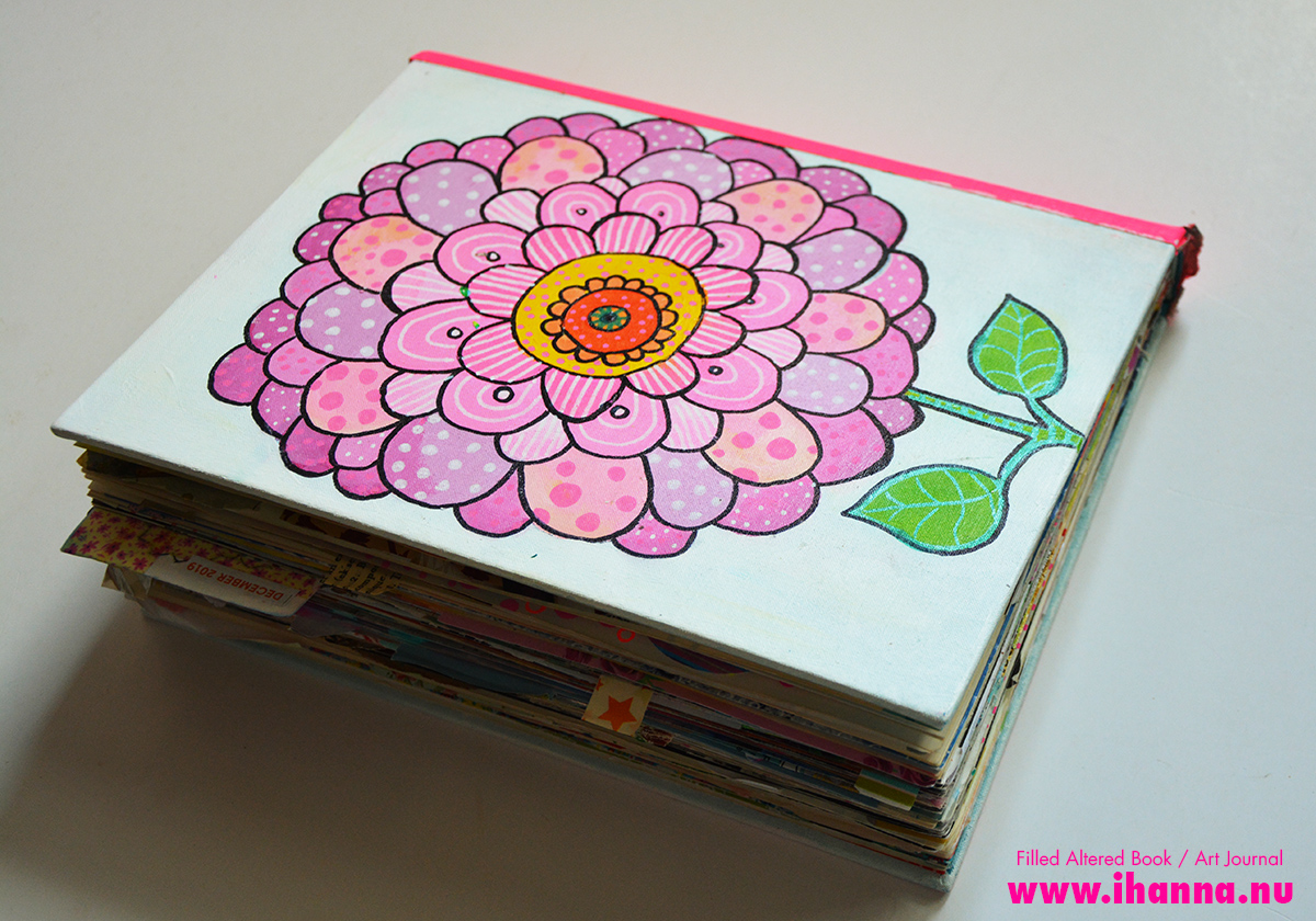 Flower Power Cut & Paste Art Journal (back-side view)