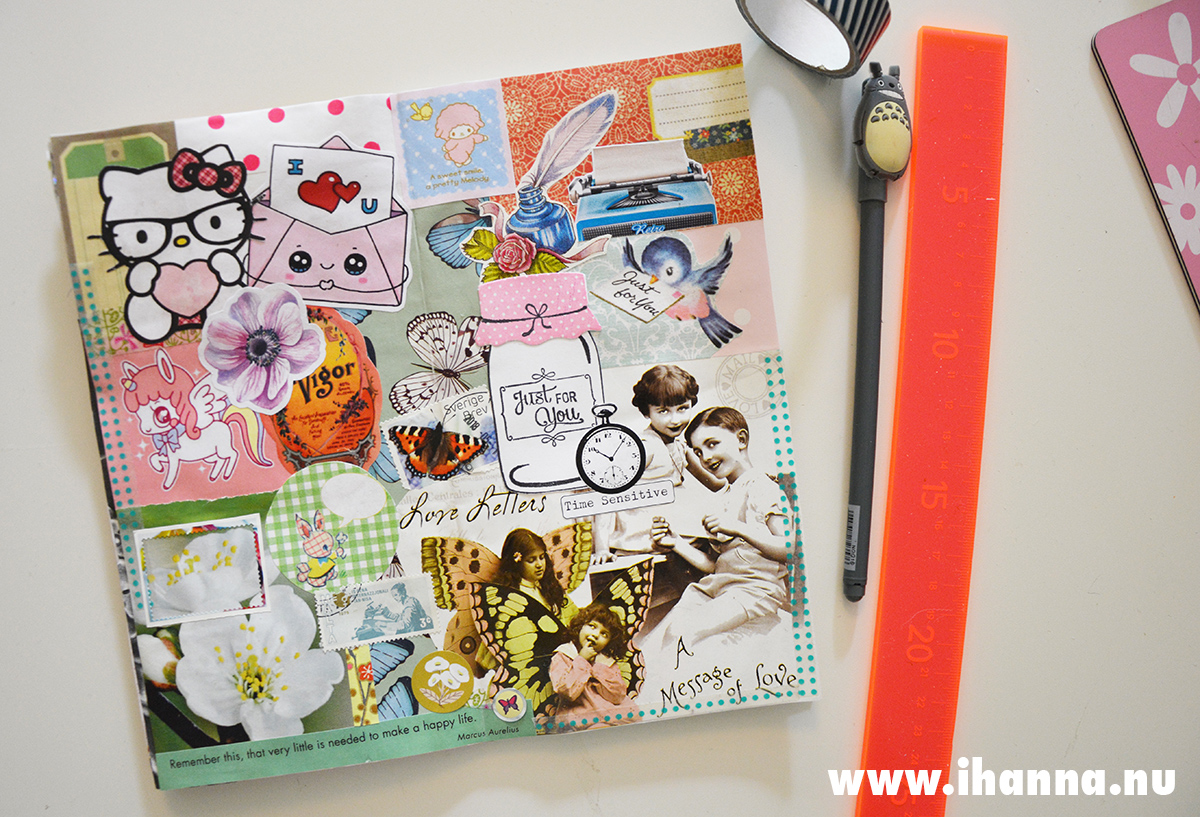 Art Journal spread in traveler's notebook regular size that I use as my Art Journal - page Just for you by iHanna