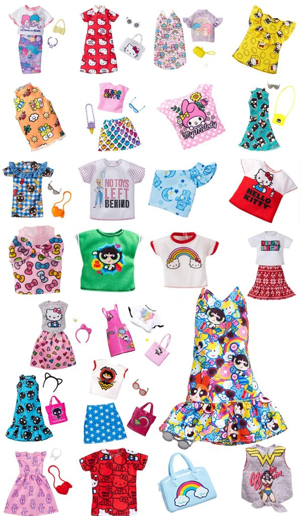 Mattel made Barbie Fashion in collaboration with famous brands like Sanrio, Power Puff Girls, Care Bears, Hello Kitty etc