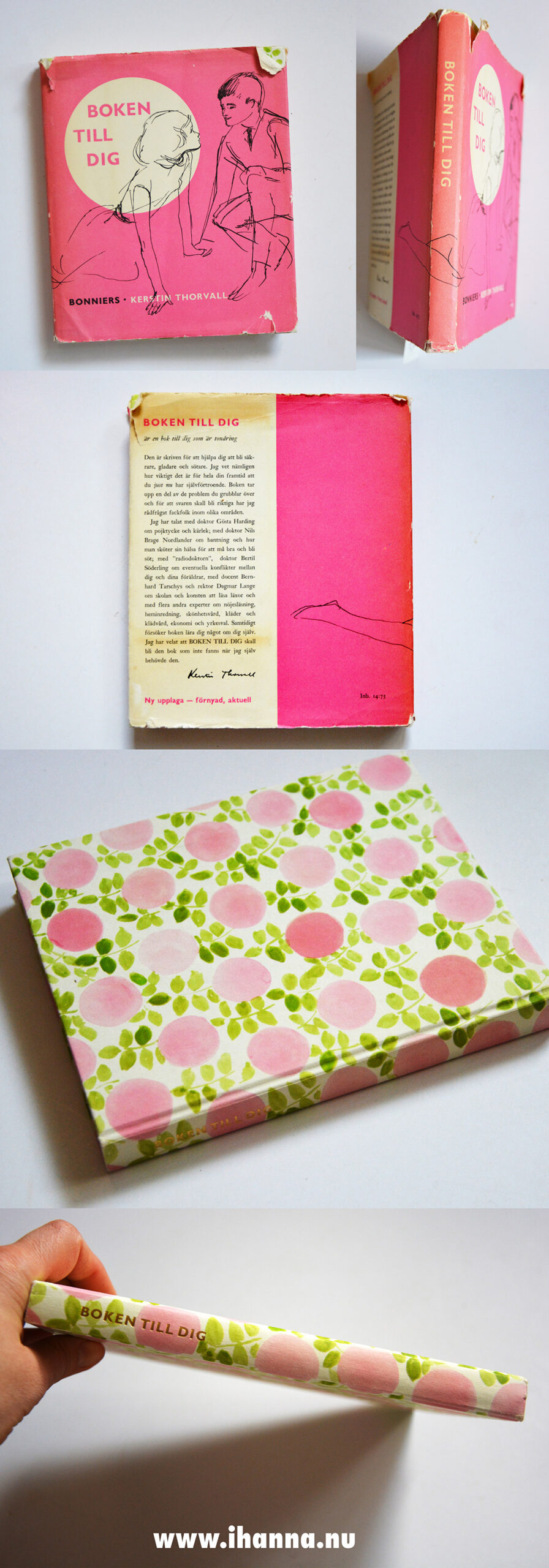 Boken till dig book cover with roses - Photographed by Hanna Andersson #swedish