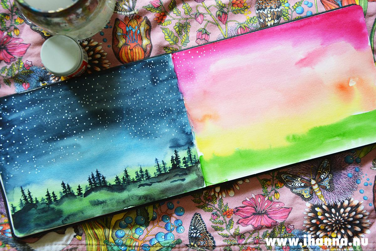 Starry Night Scene painted by iHanna